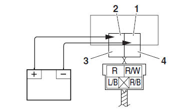 Yamaha YZF-R125 Service Manual: Checking the relays